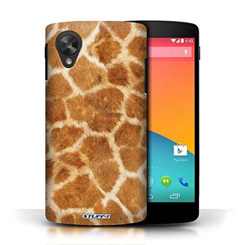 Etui / Coque pour LG Google Nexus 5/D821 / Orange conception / Collection de Girafe animale Peau/Motif