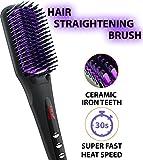 Hair Straightening Brush - Electrical Ceramic Heating Hair Straightening...
