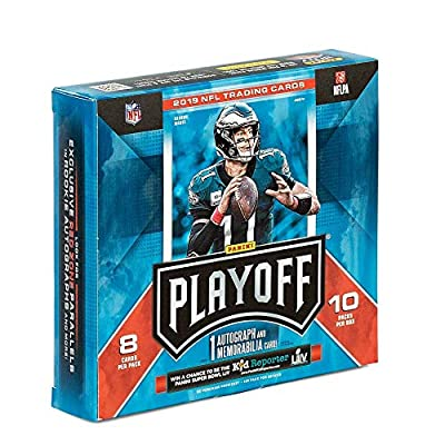 2020 Panini Playoff NFL Football Trading Card Mega Box- 1 Autograph Included - 10 Rookies - 16 Inserts - 1 Autograph Card - 1 Memorabilia Card - 80 Cards Total: Toys & Games