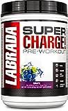 Labrada Nutrition Super Charge Pre-Workout Advanced Pump and Endurance Formula, Grape, 675 Gram
