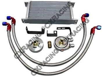 cxracing línea de temperatura de aceite externa Sandwiche Kit para 14 15 Subaru Wrx 2.0L