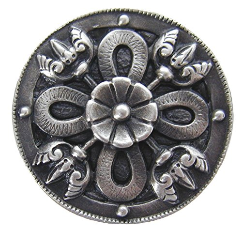 Notting Hill Decorative Hardware Celtic Shield Knob, Antique Pewter