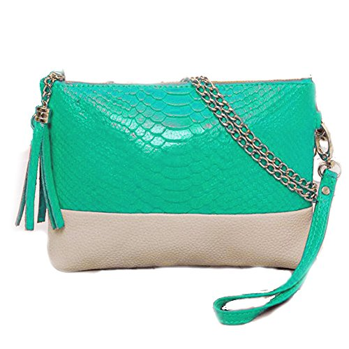 Green Vincenza Snake Shoulder Chain Handbag Evening Leather Style Gold Ladies Bag Vintage Croc Bags Clutch PU Tassel ZrZUWa