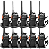 Retevis H-777S 2-Way Radios FRS Rechargeable Vox Encryption Security Walkie Talkies with Professional Earpieces (10 Pack)