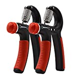 B.LeekS 2PCS Hand Wrist Gripper Exerciser Strengthener Hands Training Adjustable Resistance 22-88 Lbs, Anti-slip Hand Grip, Perfect for Athletes/Musicians/Golfers/Tennis players/Baseball players