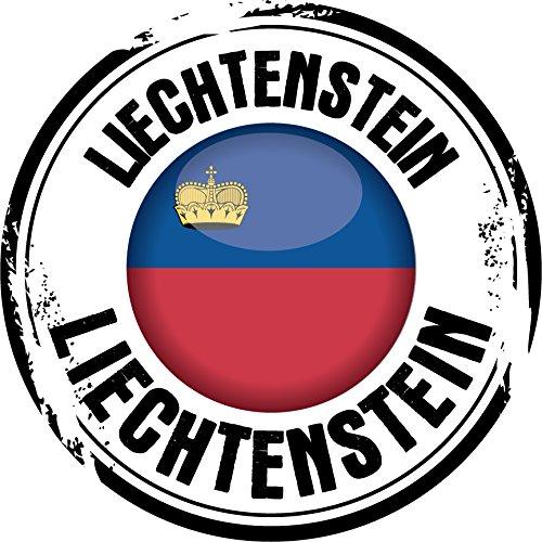 Liechtenstein Flag Grunge Rubber Stamp Home Decal Vinyl Sticker 12'' X 12'' ()