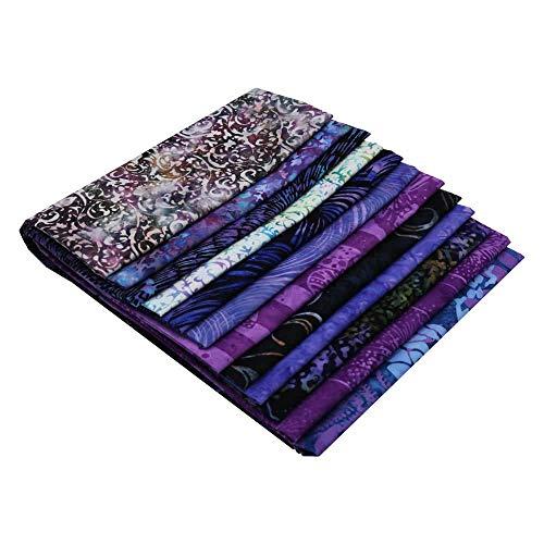 Hoffman Fabrics Bali Batik Hand Dyed Batiks Twelve Fat Quarters Wisteria - Fabric Hand Batik Dyed