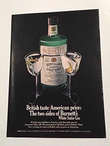 Burnetts Gin - 1977 Sir Robert Burnett's Dry Gin Magazine Print Advertisement