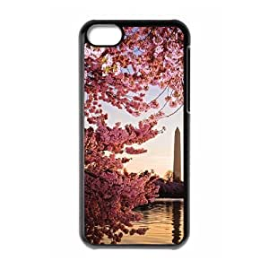 cherry blossoms DIY Cover Case with Hard Shell Protection for Iphone 5C Case lxa#476499