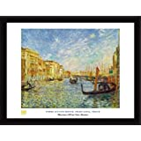 Pierre Auguste Renoir Poster Art Print and Frame (MDF) Black - Grand Canal, Venice (32 x 24 inches)