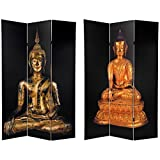 Oriental Furniture 6 ft. Tall Double Sided Thai Buddha Room Divider