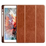 iPad Pro 10.5 Case - Benuo [Vintage Series] Folio Flip Leather Case w Build-in Apple Pencil Holder and Stand Feature - Smart Cover Auto Sleep Wake Function for iPad Pro 10.5 inch 2017
