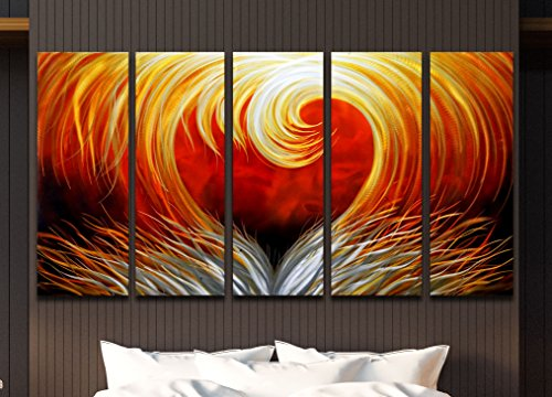 SWAGGER ART 5 Piece Metallic - wall art home decor