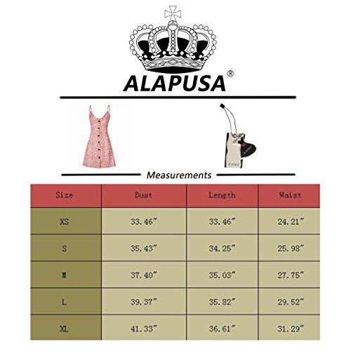 Les Femmes Alapusa Occasionnel Cravate Été Bouton Retour Sangle Spaghetti Tenue Vestimentaire Décontractée Midi F