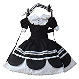 Partiss 1/3 BJD SD Doll Clothes Lovely Girls Black Cotton Lolita Dress