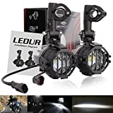 LEDUR Auxiliary Lights for BMW Motorcycle 40W 6000K Spot Driving Fog Lamps