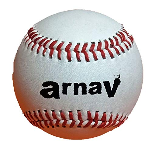 Arnav Baseball Ball Leather Official Size  9 Inch  Hand Made