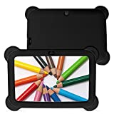 7 inch quad tablet case - Yuntab 8GB Q88 7 inch Android Quad-core Tablet PC, 1024600, Allwinner A33 , Google Android 4.4 Tablet with Silicone Protective Cover Case (Black-Black)