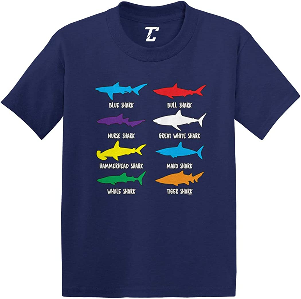 Types of Sharks - Great White Infant/Toddler Cotton Jersey T-Shirt