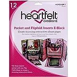 Heartfelt Creations E-Black Flipfold Inserts