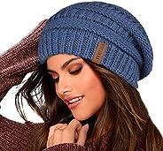 FURTALK Knit Beanie Hats for Women Men Fleece Lined Ski Skull Cap Slouchy Winter Hat