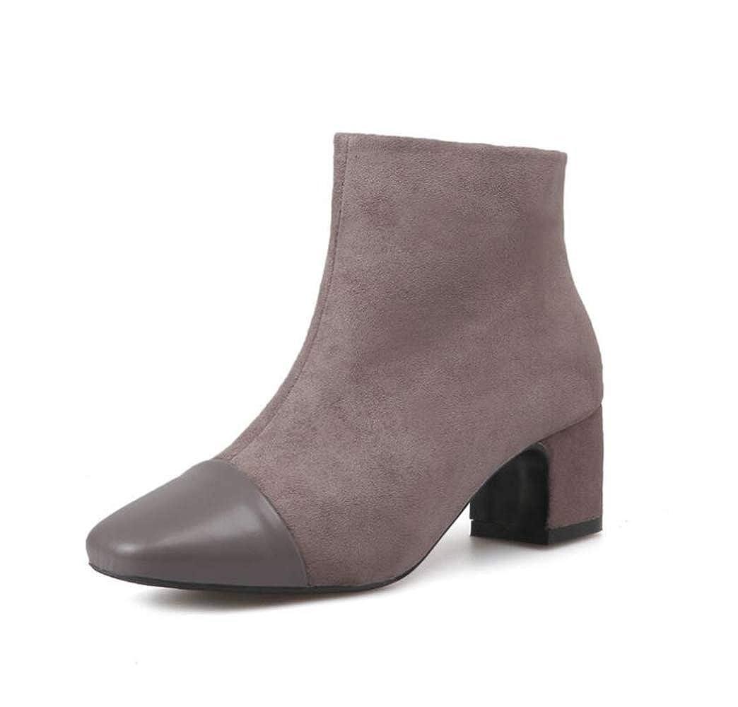 Shiney Frauen Stiefelies Wildleder High-Heels Wintermode Wintermode Wintermode Chunky Heel Bare Stiefel 228389