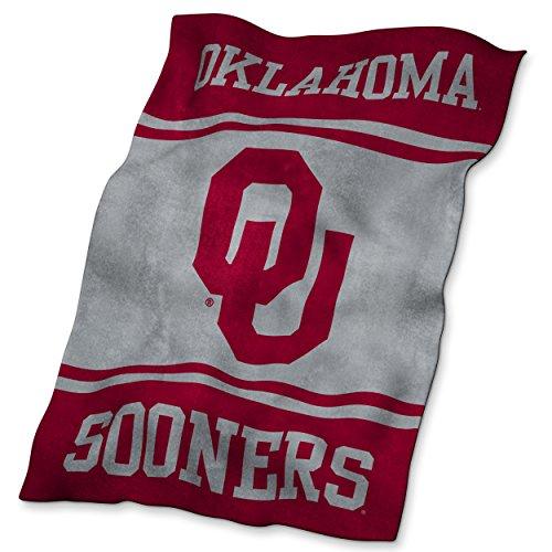 Logo Brands NCAA Oklahoma Sooners Ultrasoft Blanket (Oklahoma Comforter Sooners Full)