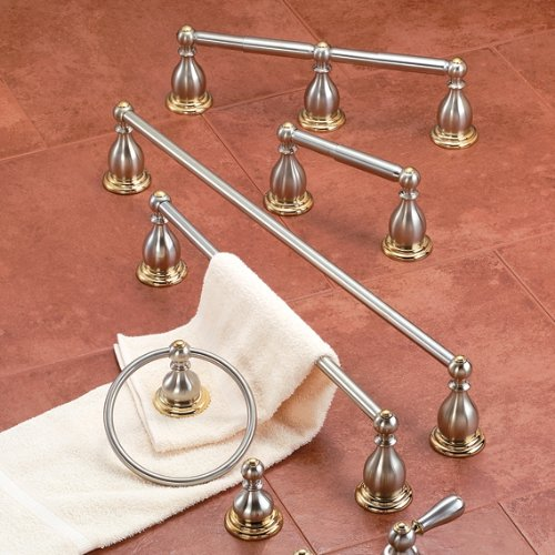 American Standard 8040.232.228 Prairie Field Double Toilet Paper Holder, Polished Chrome with Brass Accents