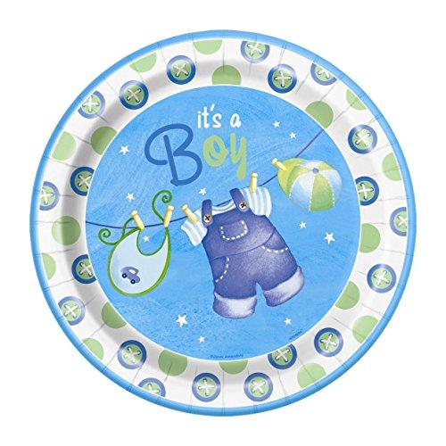 Blue Clothesline Shower Dinner Plates