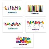50 Happy Birthday Postcards - 5 Fun Birthday Designs - 4'' x 6'' Postcards