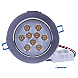 Super Bright Dimmable 9W LED Ceiling Light Downlight Recessed Lighting kit for decoration lighting lamp AC110-220V with transformer Warm White CL-TT135D-9