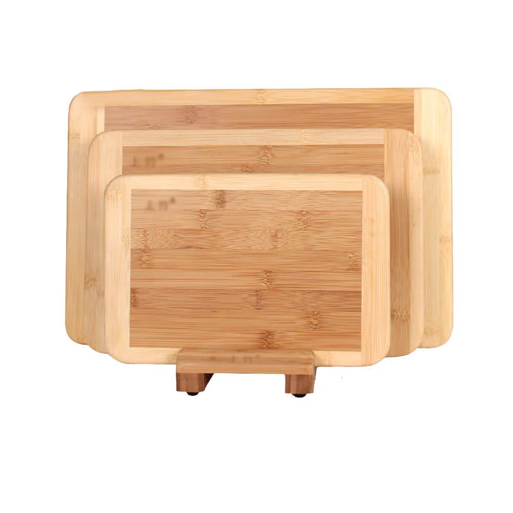 カッティングボード ホームフレキシブルチョッピングボードは、肉&フルーツ&パンワークトップのための4台のキッチン竹の切削板を保存する B07G9R46L3