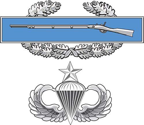 Military Vet Shop Magnet US Army CIB Senior Jump Wings Vinyl Magnet Car Fridge Locker Metal Decal 3.8