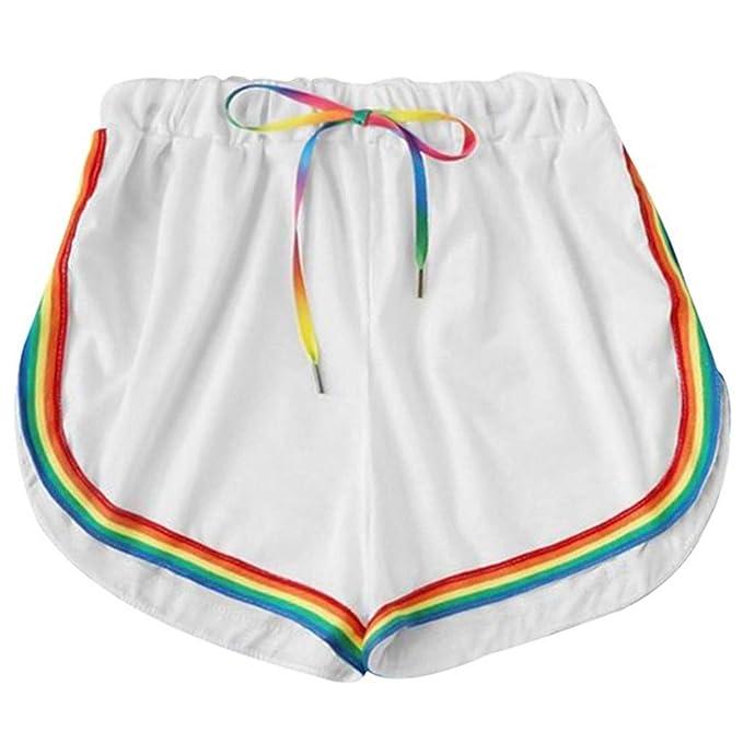 Amazon.com: Pantalones cortos para mujer casuales ...