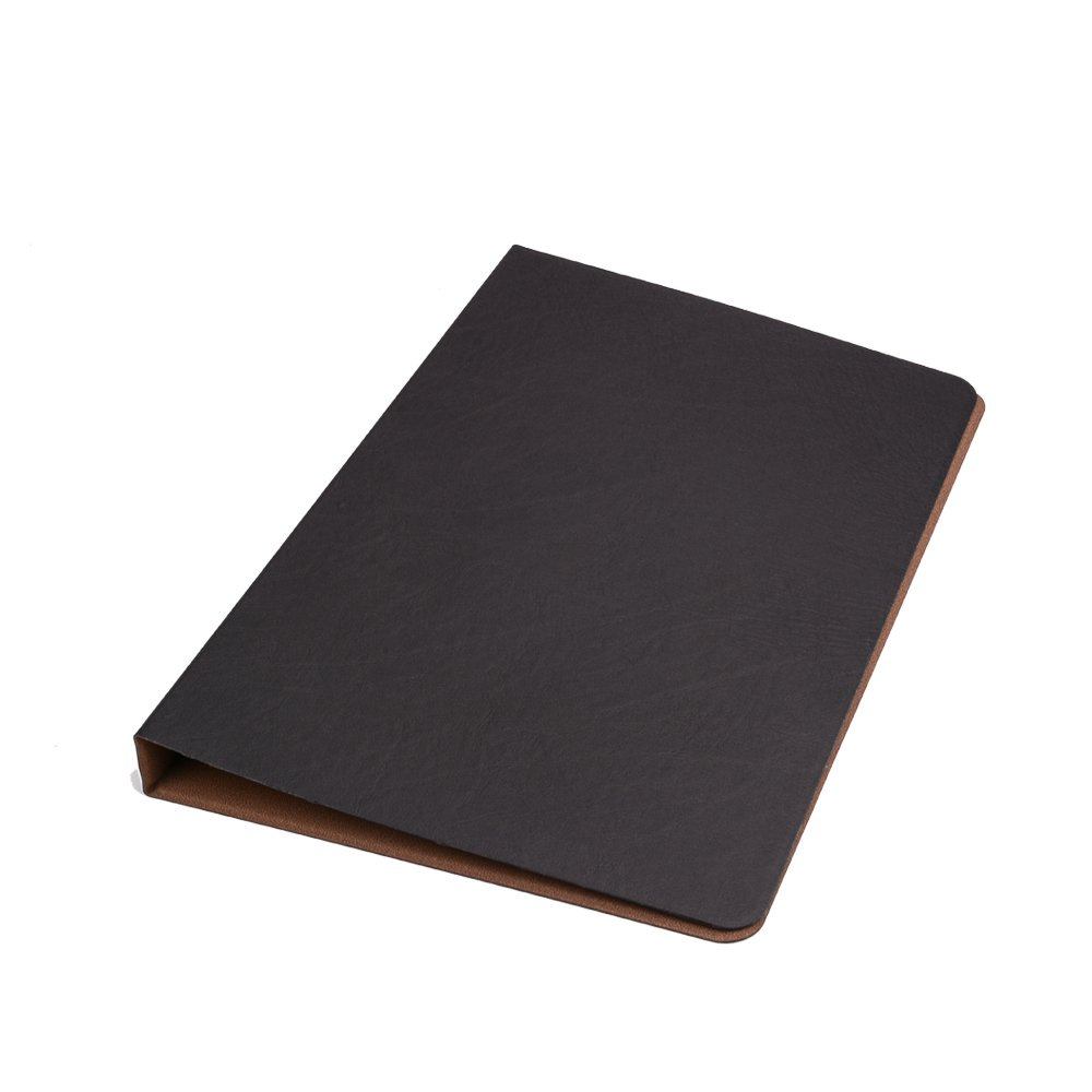 Folio Cover Case with Spring Clip Pad for Organizing Loose Documents Notepad,Writing Pad,Presentation Folder,Black