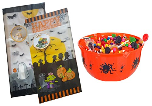 Halloween Candy Bags - 40 Count Goodie Trick or Treat Favor Packs