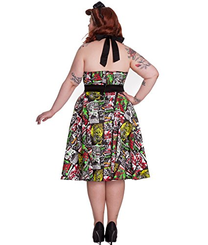 Hell Bunny B-Movie Zombie Horreur 50s Style Robe Dos Nu