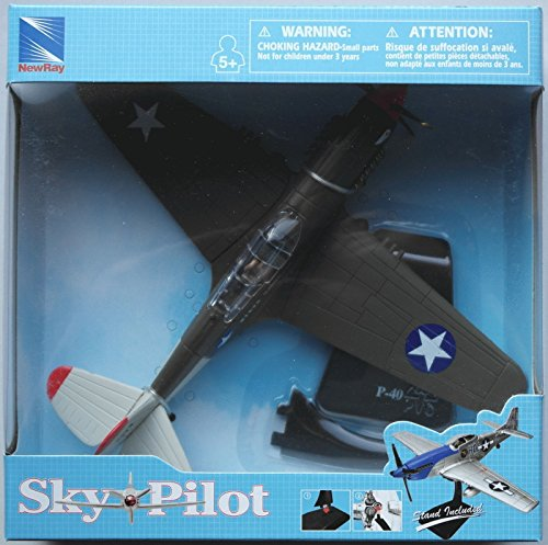 New 1:48 NEW RAY SKY PILOT COLLECTION - SKY PILOT PLANES P-40 WARHAWK Model By NEW RAY TOYS