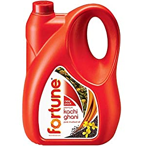 Fortune Kachi Ghani Pure Mustard Oil Jar, 5L India 2021