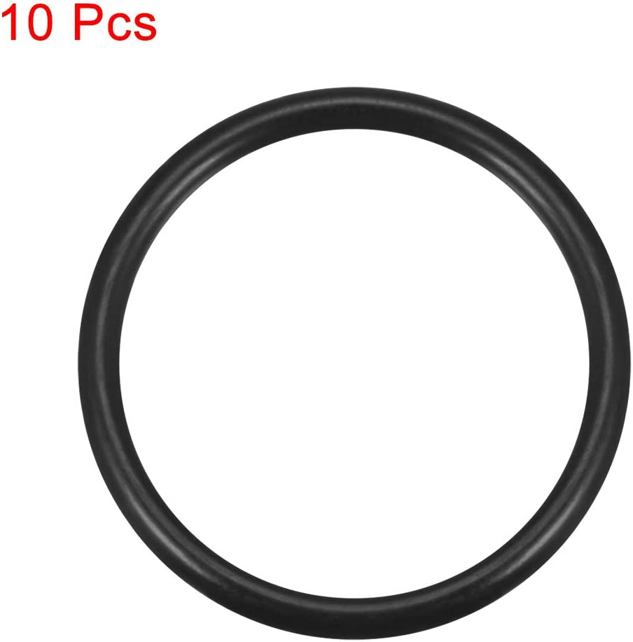 37mm OD 32.2mm Inner Diameter uxcell O-Rings Nitrile Rubber 2.4mm Width Round Seal Gasket Pack of 10