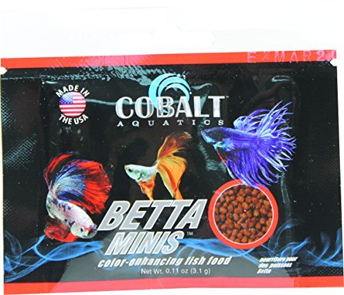 Cobalt Aquatics Betta Minis Color Enhancing Fish Food - .11Oz/96 Count 0.11 Ounce Mini