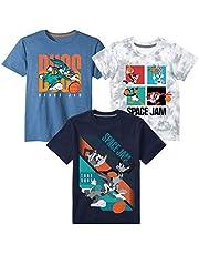 space jam 2 A New Legacy Boys 3 Pack Graphic Short Sleeve T-Shirt Bundle Set