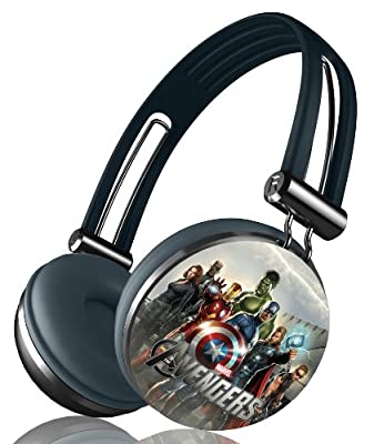 Marvel's The Avengers Movie Series Aviator Stereo Over Ear Headphones - Retail Packaging, Silver Band