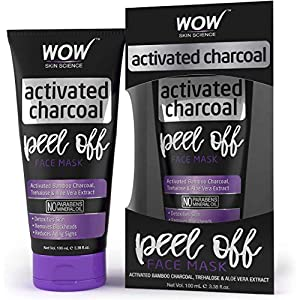 WOW Skin Science Activated Charcoal Face Mask – Peel Off – No Parabens & Mineral Oils, 100 ml