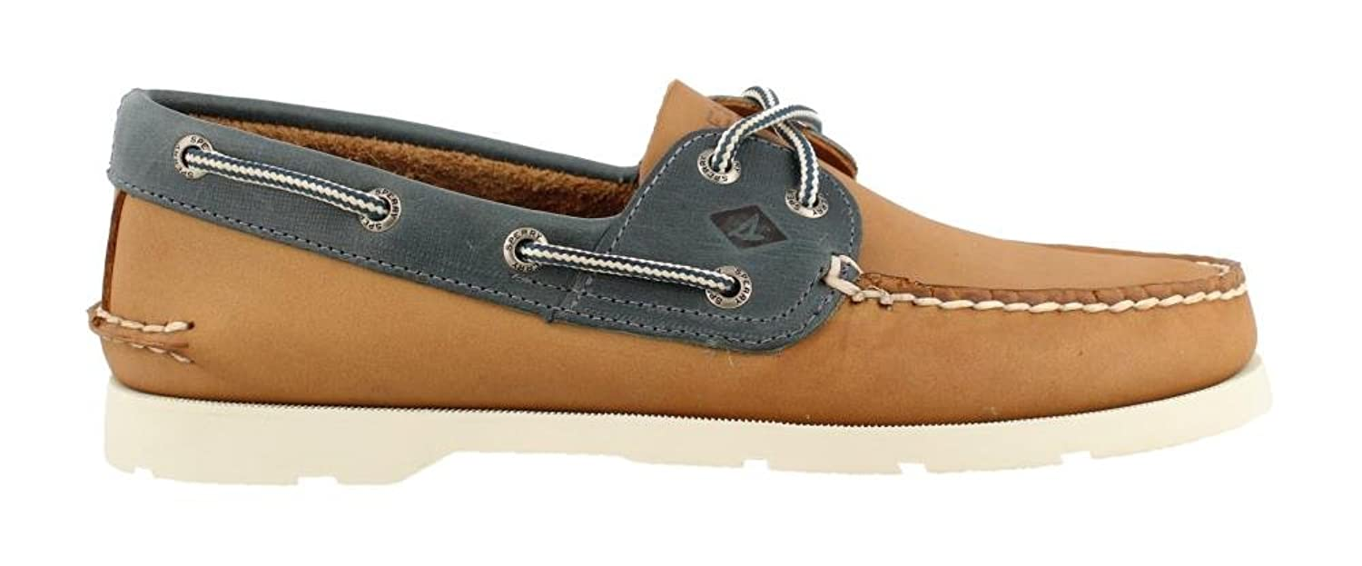 Men's Leeward Boat Shoe Tan Blue 10 W