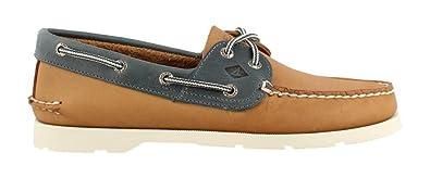 Men's Leeward Boat Shoe Tan Blue 7 M
