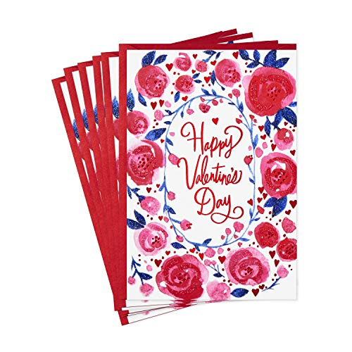 Hallmark Valentines Day Cards Pack, My Happy Heart to Yours (6 Valentine's Day Cards with Envelopes)