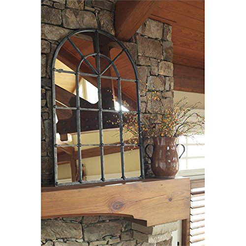 Ashley Furniture Signature Design - Oengus Arched Window Finished Metal Mirror - Traditional - Bronze Finish by Signature Design by Ashley (Image #2)