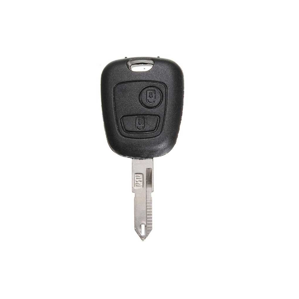 M-Egal 2 Buttons Remote Key Case Cover Replacement Key Shell for Peugeot 106 205 206 306 405 406 black