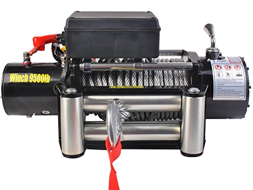 Tangkula Classic 9500lbs 12v Electric Recovery Winch Rc T...